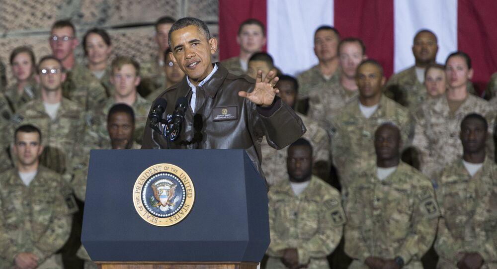 Presidente dos EUA Barack Obama discursa durante a sua visita a Cabul, Afeganistão