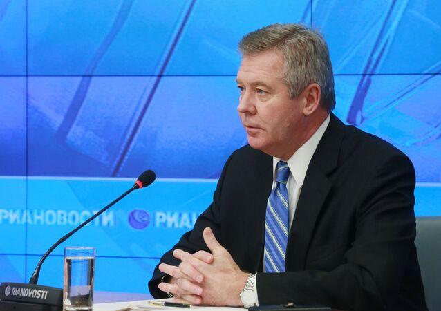 O representante permanente da Rússia junto ao Escritório da ONU e de outras organizações internacionais em Genebra, Gennady Gatilov