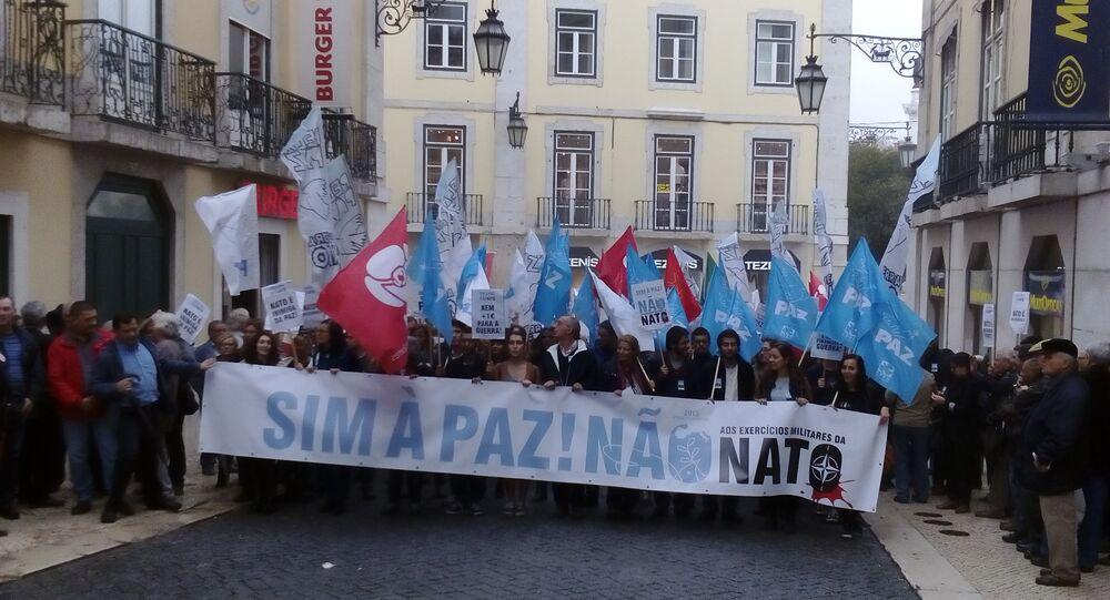 Manifestação contra a OTAN em Lisboa