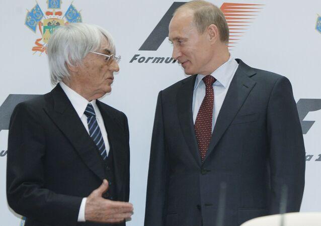 Bernie Ecclestone et Vladimir Poutine (Archives)
