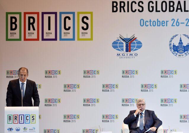 Chanceler russo e reitor de uma das maiores universidades russas na cúpula dos BRICS