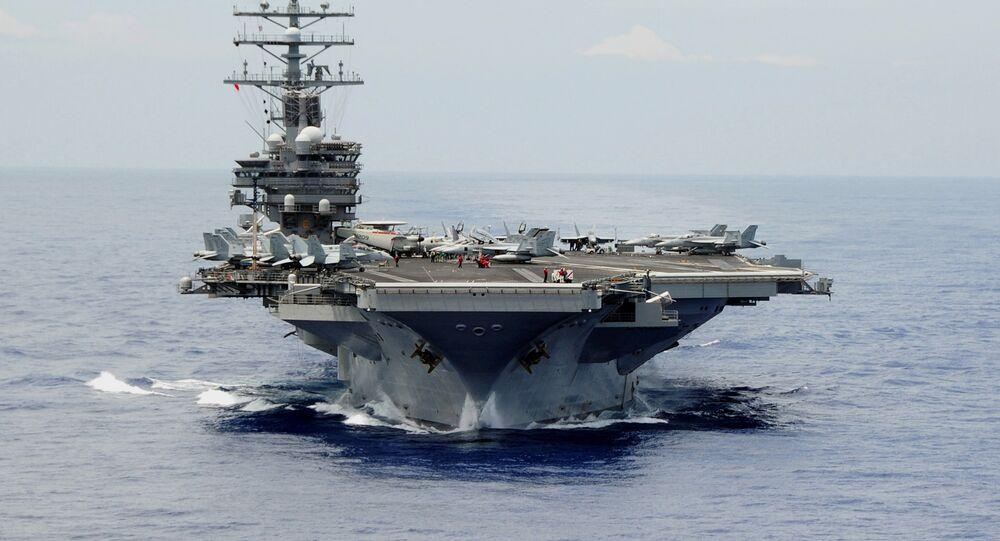 Porta-aviões USS Ronald Reagan, da Marinha dos Estados Unidos (foto de arquivo)