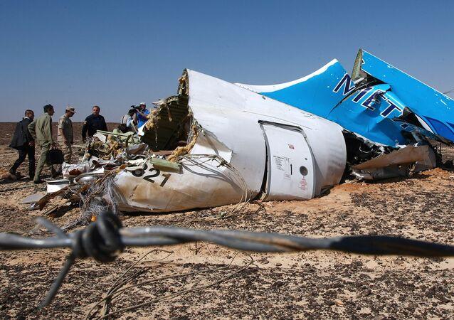 Local da queda do Airbus A321 no Egito