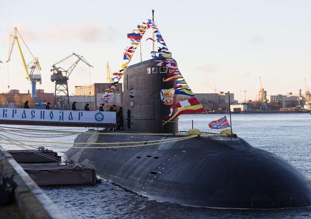 Submarino russo Krasnodar da classe Varshavyanka (imagem referencial)