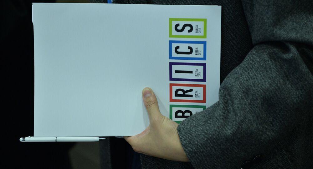 Um participante do Fórum Midiático dos BRICS