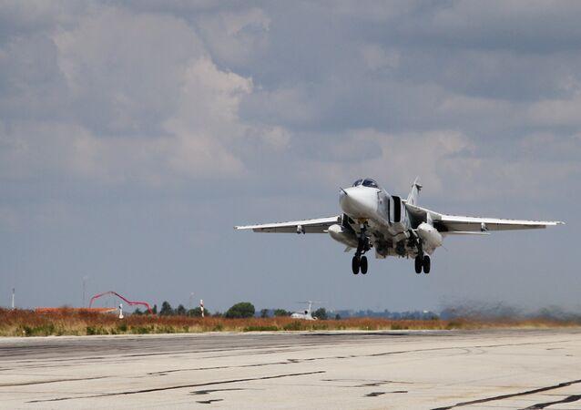 Aviação militar russa na base aérea de Hmeimim na Síria (foto de arquivo)
