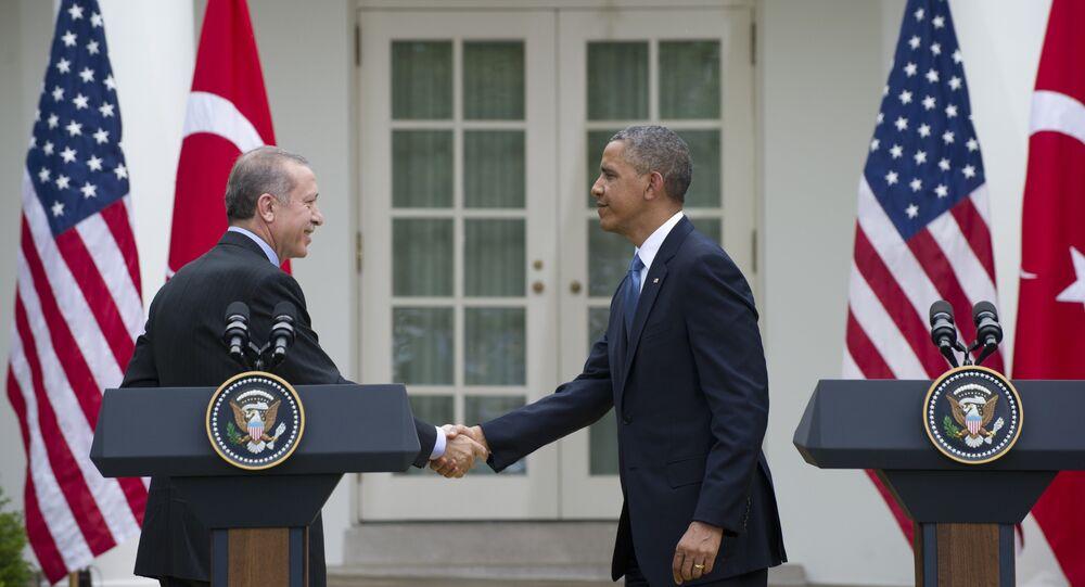 Barack Obama, presidente dos EUA, e Recep Tayyip Erdogan, presidente da Turquia
