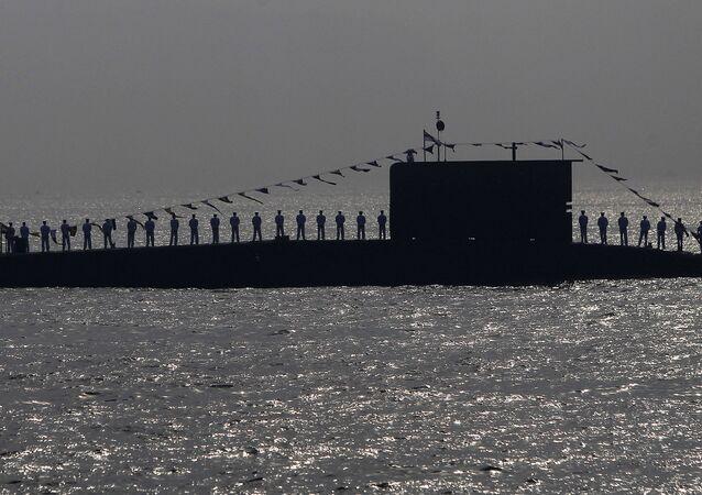 Oficiais da Marinha indiana (foto de arquivo)