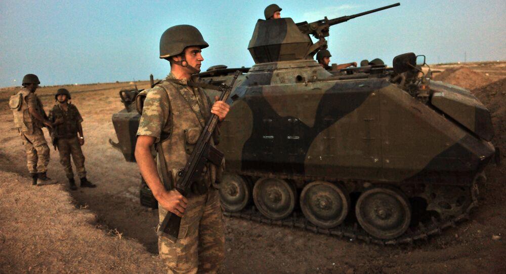 Soldados turcos na Síria (foto de arquivo)