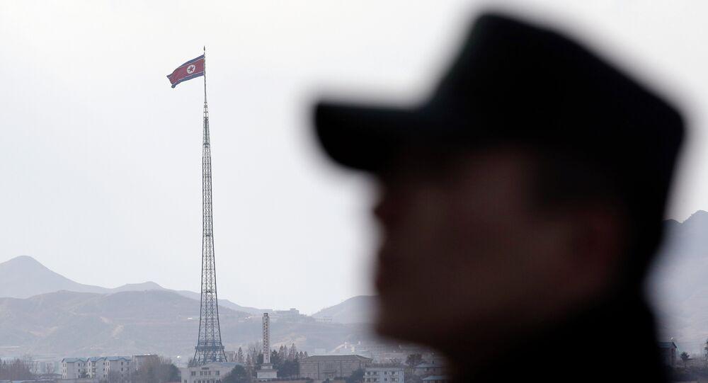Soldado sul-coreano na fronteira com Coreia do Norte