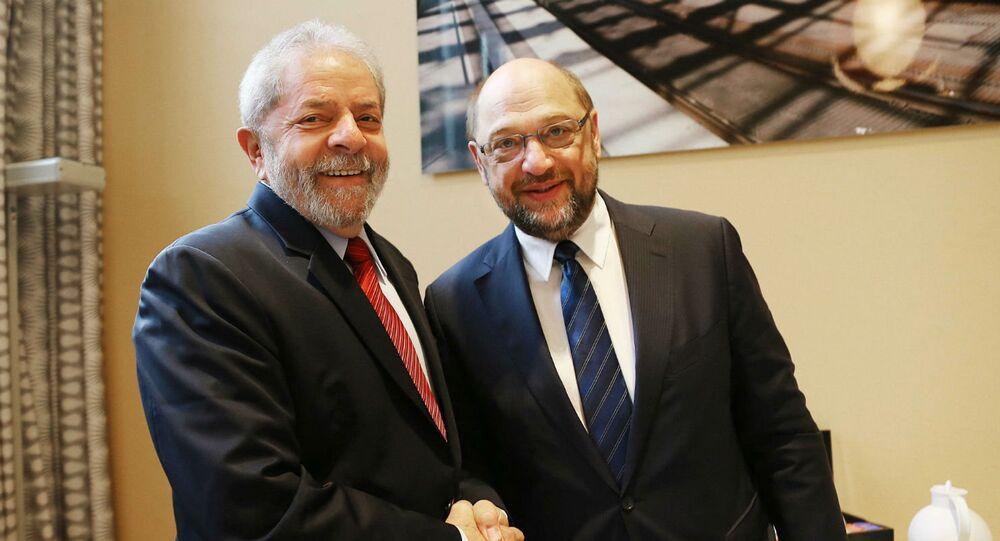 Lula e Matin Schulz.