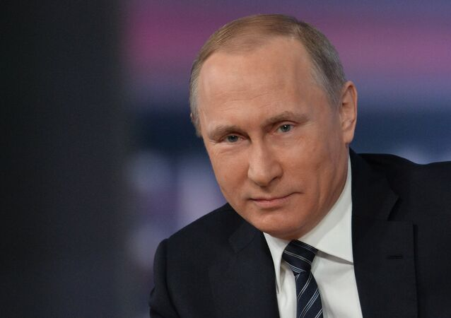 Vladimir Putin durante coletiva de imprensa em 17 de dezembro