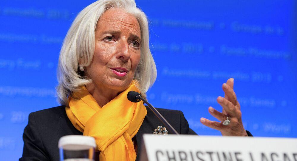 Diretora-gerente do FMI, Christine Lagarde