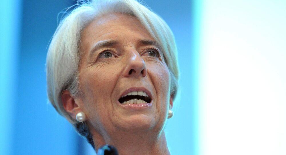 Christine Lagarde, diretora-gerente do FMI