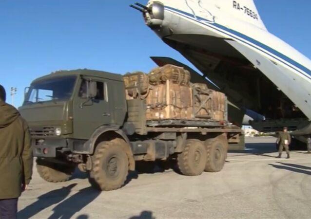 Preparativos da entrega dos primeiros lotes de ajuda humanitária russa na Síria