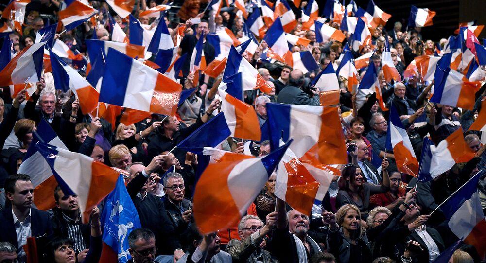 Apoiantes do Partido Frente Nacional da França, 9 de dezembro de 2016