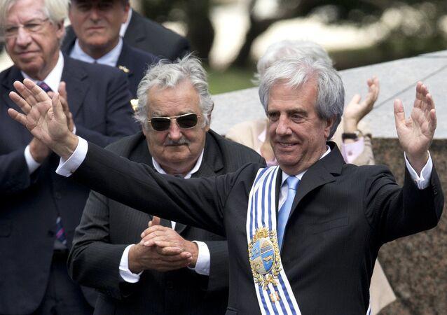 Presidente Tabaré Vázquez com o ex-Presidente José Mujica