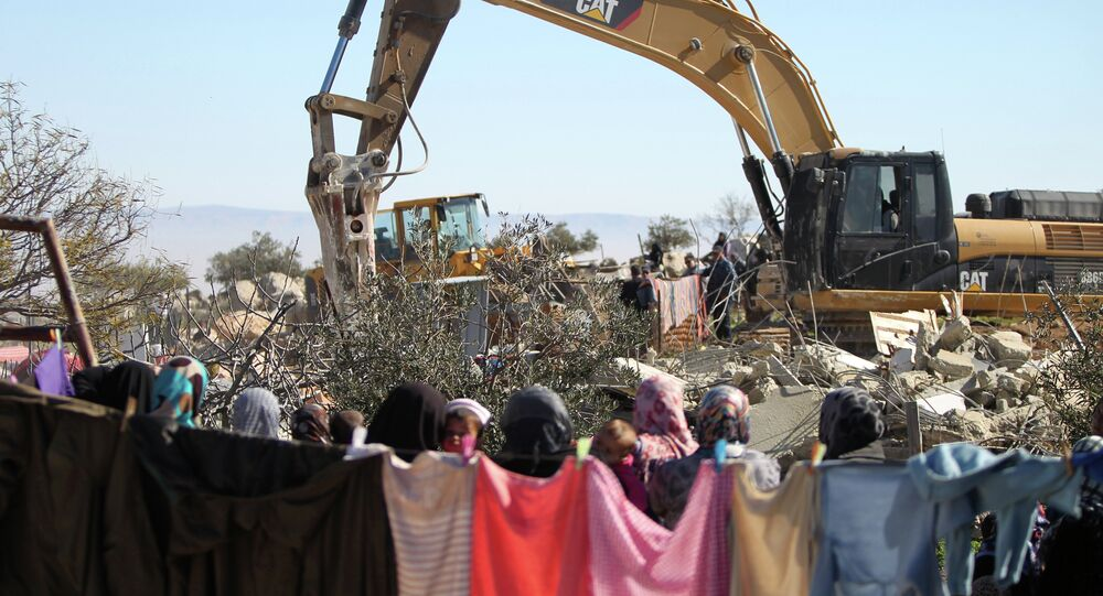 Destruição de uma casa residencial na Cisjordânia