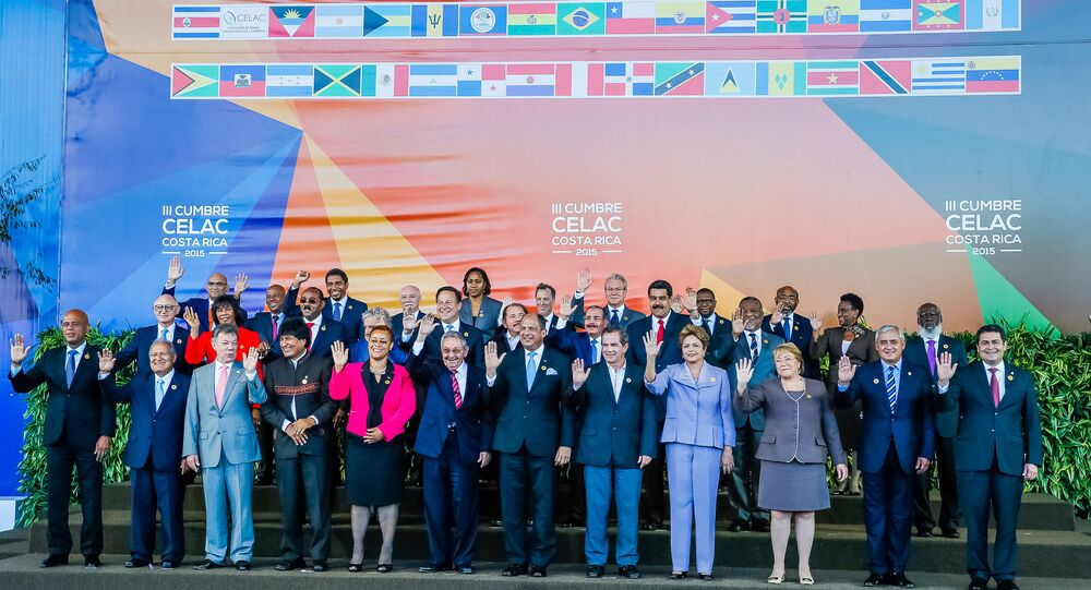 Dilma Rousseff e os demais Chefes de Estado e de Governo dos países da CELAC