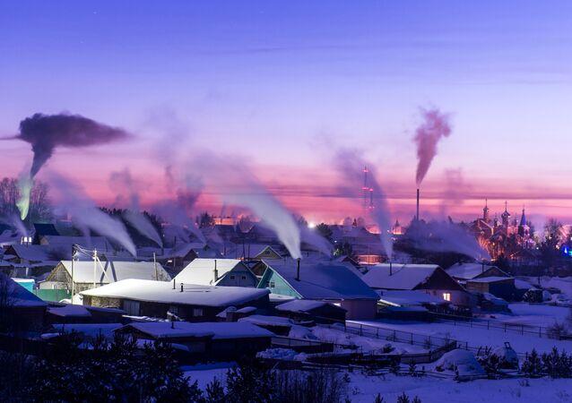 Inverno verdadeiro russo na Sibéria (imagem referencial)
