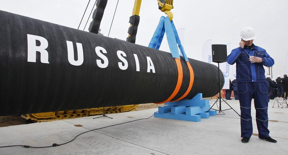 Peça de gasoduto da Rússia