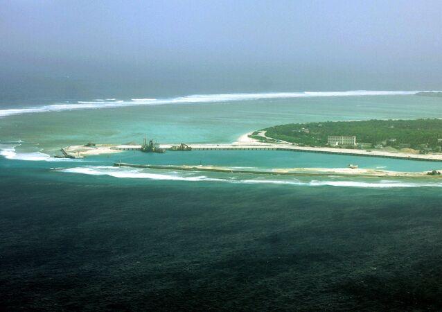 Cidade de Sansha na ilha de Yongxing, também conhecida como ilha de Woody, no Mar do Sul da China
