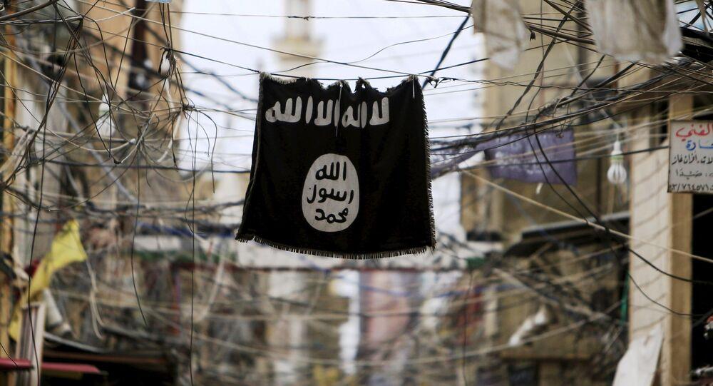 Bandeira do grupo terrorista Daesh (Estado Islâmico)