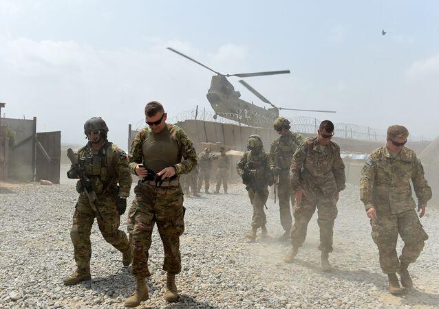 Soldados norte-americanos na província de Nangarhar, Afeganistão, em 13 de agosto de 2015