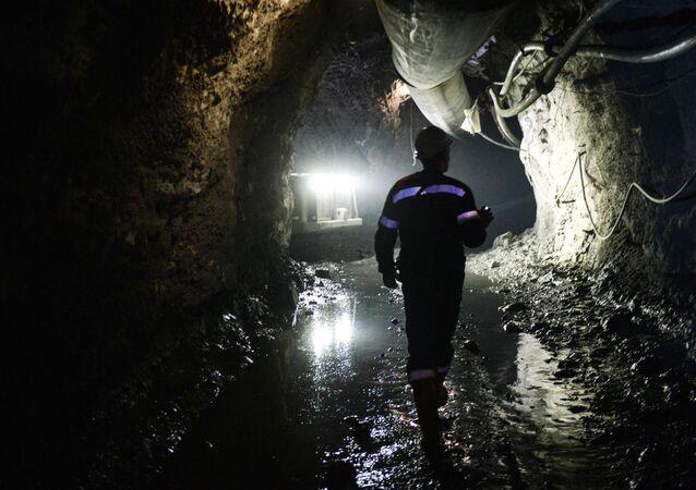 Empregado na mina (foto de arquivo)