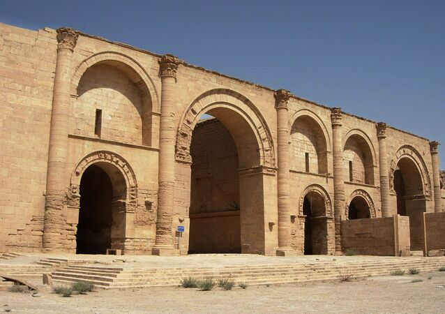 Templo ao deus-sol Shamash na cidade mesopotâmica de Hatra.