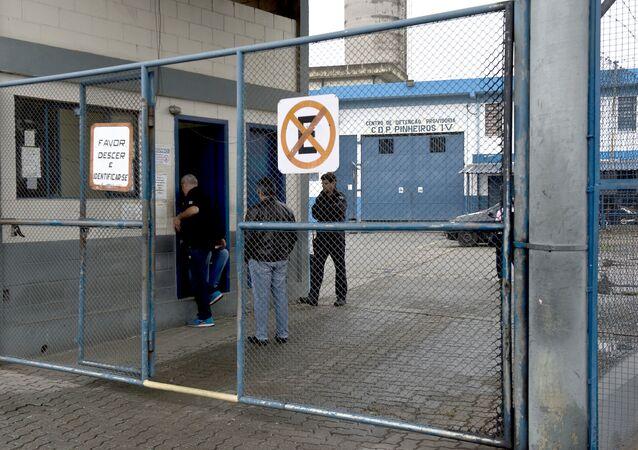 Centro de Detenção Provisória de Pinheiros, em São Paulo, onde ficou o executivo argentino