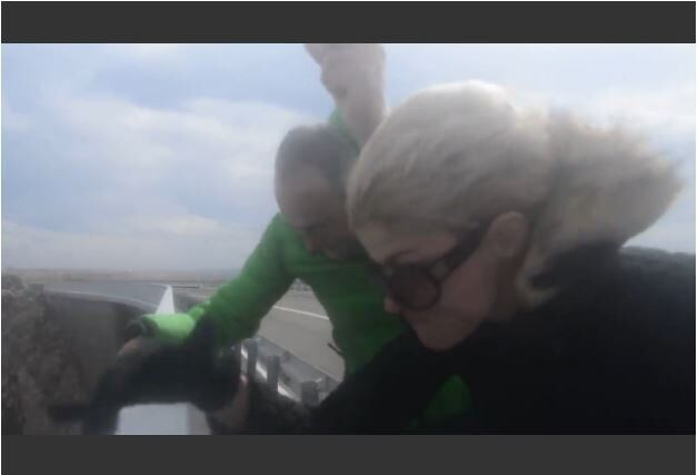 Vento Bora atinge ilha de Pag, na Croácia