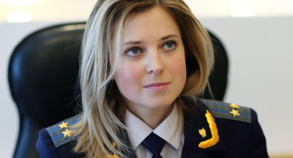 A procuradora da república da Crimeia, Natalia Poklonskaya