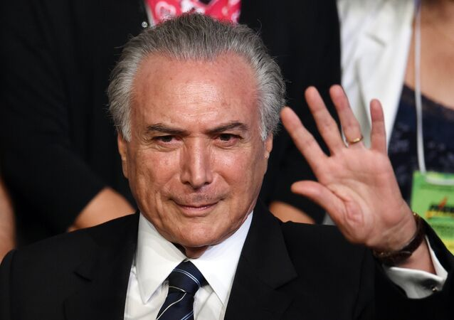 Michel Temer durante Convênio Nacional do PMDB, em Brasília, em 12 de março de 2016