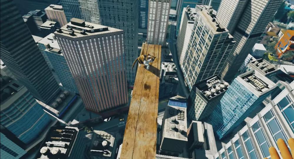 Simulação virtual do game Salve o gato, da companhia japonesa Banco Namdai