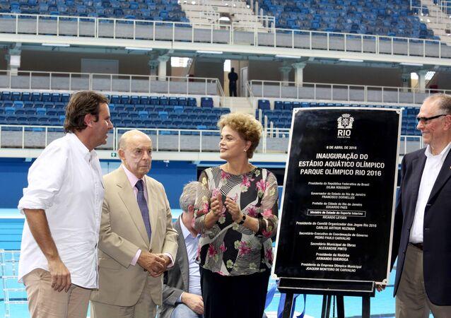 Inauguração do Estádio Aquático Olímpico no Rio de Janeiro