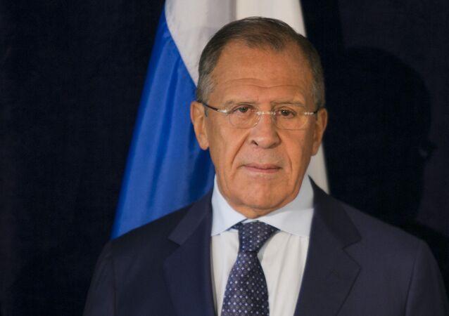 Chanceler russo Sergei Lavrov