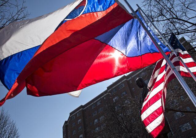 Bandeiras da Republica Tcheca, Eslováquia e os EUA