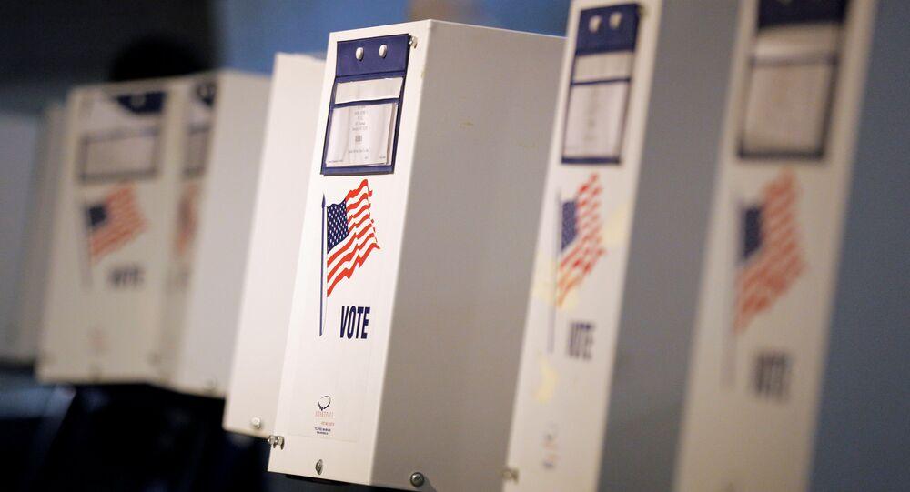 Urnas nas eleições em Nova York