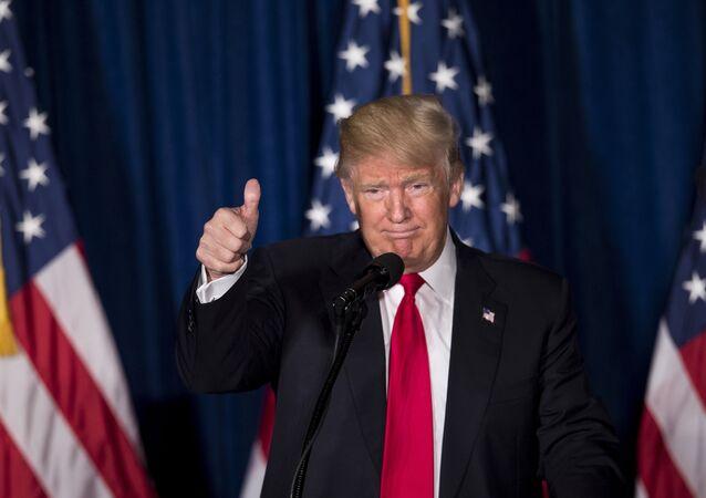 O republicano americano Donald Trump