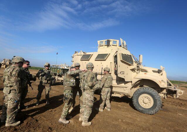 Soldados norte-americanos no nordeste da Síria
