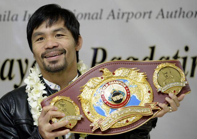 Manny Pacquiao, boxeador filipino