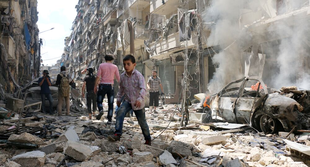 Bairro de al-Kalasa em Aleppo, Síria