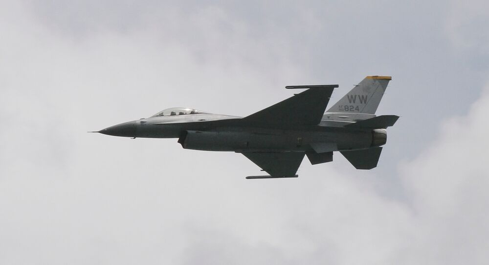 O caça F-16 dos EUA