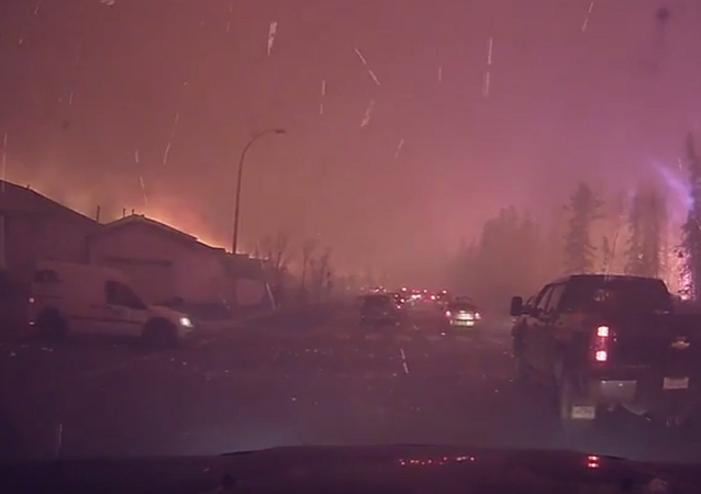 Fortes incêndios florestais atingem a província de Alberta, no Canadá