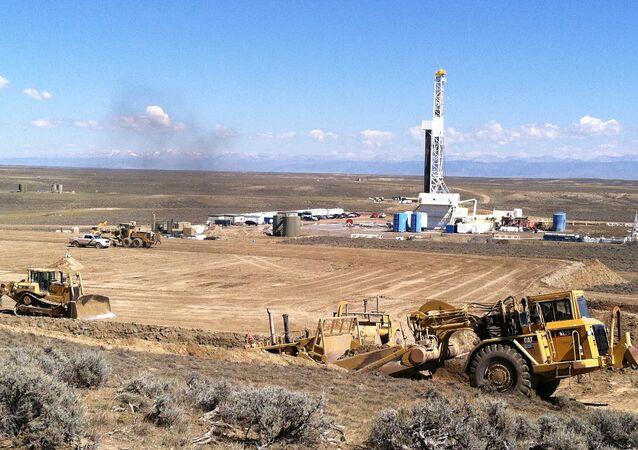 Fracking (fraturamento hidráulico) no estado de Wyoming, EUA