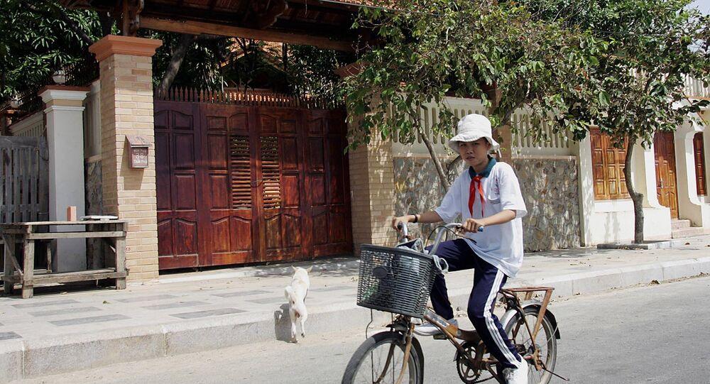 Um vietnamita, foto de arquivo