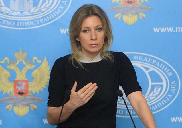 Representante oficial do Ministério das Relações Exteriores russo, Maria Zakharova
