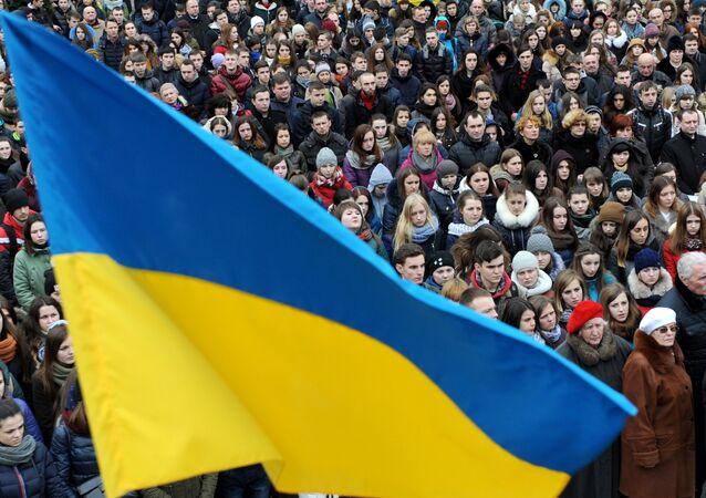 A bandeira da Ucrânia