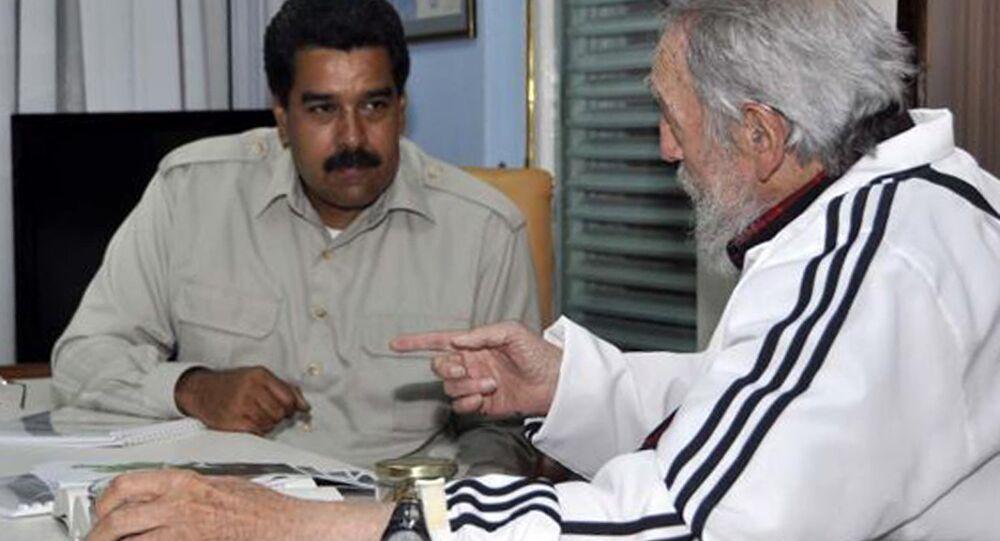 Nicolás Maduro e Fidel Castro.